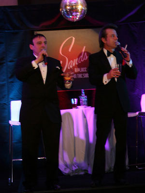 steve london as dean martin, gary sacco as frank sinatra, book cadillac, murder at the sands, empire entertainment, legends live